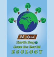 planet earth - 22 april earth day - ecology theme vector image