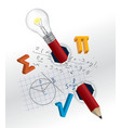Playful mathematics concept vector image vector image