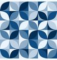 retro classic blue circles mosaic pattern vector image vector image