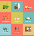 Room Icon Set vector image vector image