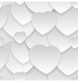 Seamless pattern Heart cut out of paper vector image vector image