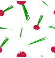 seamless pattern of radish and onion vector image