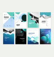 set of brochure annual report design template vector image vector image