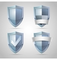 Set of shield icons vector image vector image
