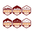 set of vintage labels adventure camp vector image vector image