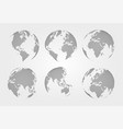 set of world map dotted style vector image vector image