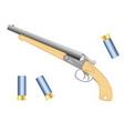 short handgun with patron vector image vector image
