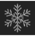 silver snowflake from christmas decoration vector image vector image