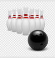 stock bowling ball and vector image