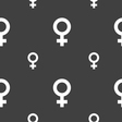 Symbols gender Female Woman sex icon sign Seamless vector image