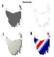 Tasmania blank detailed outline map set vector image vector image