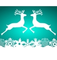 Two reindeer jump to each other on a blue vector image
