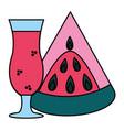 watermelon juice tropical fruit vector image vector image
