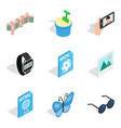 web architecture icons set isometric style vector image vector image