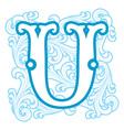 winter vintage letter U vector image vector image