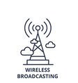 wireless broadcasting line icon concept wireles vector image