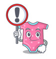 with sign character baby clothes hanging on vector image