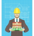 Young attractive construction manager vector image