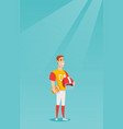 young caucasian sportsman rugby player vector image vector image