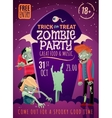 Zombie Party Poster vector image vector image