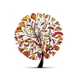 Art tree autumn season concept for your design vector image
