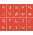 Barbecue sketch icon set vector image