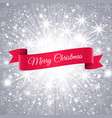 merry christmas banner with snowflakes background vector image