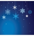 set of snowflakes background vector image