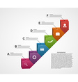 3D Infographic Stair of Success in Business design vector image