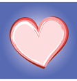 abstract heart symbol on blue background vector image