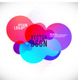 abstract liquid color geometric shapes fluid vector image