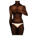 African american women body vector image