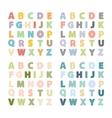 alphabet setalphabet collection vector image vector image