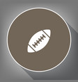 american simple football ball white icon vector image vector image