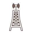 antenna communication tower vector image vector image