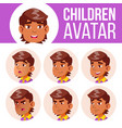 arab muslim avatar set kid primary school vector image vector image