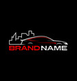 auto city logo template vector image