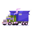 auto shipping deliver truck with parcel icon vector image vector image