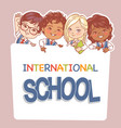 back to school design children hold banner vector image