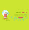 beach tropical party website flat template vector image vector image