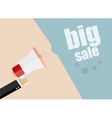 Big Sale Businessman hand holding a megaphone vector image vector image