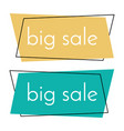 big sale yellow and green banner vector image vector image