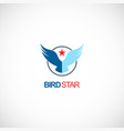 bird star emblem logo vector image