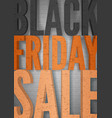 black friday sale minimal poster template vector image vector image