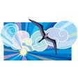 black sea-bird vector image vector image