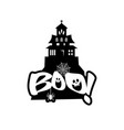 boo typography design vector image