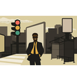 Business in the city vector image vector image
