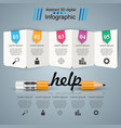 business infographics pencil help idea icon vector image vector image