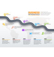 business infographics stages road vector image