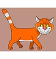 cartoon good red cat vector image vector image